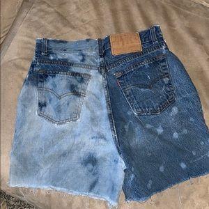 Unique Levi jean shorts !!
